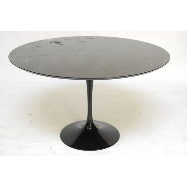 Eero Saarinen Style Black Marble Tulip Dining Table Chairish