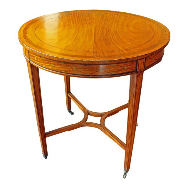 English Satinwood Center Table For Sale