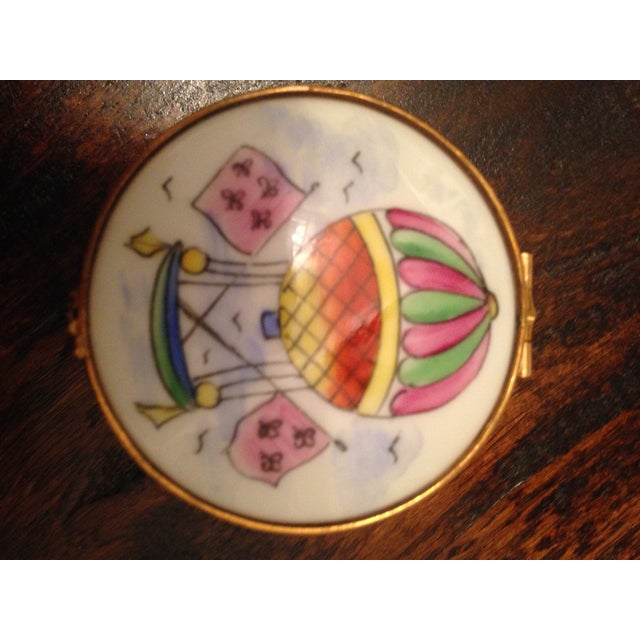 Vintage Hot Air Balloon Hinged Trinket Box - Image 6 of 7