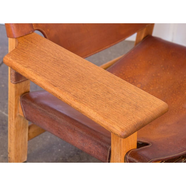 1960s Pair of Borge Mogensen Spanish Chairs for Fredericia Stolefabrik For Sale - Image 5 of 13