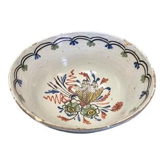 18th Century Polychrome Delft Bowl