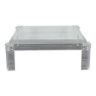 1970's Lucite Coffee Table For Sale
