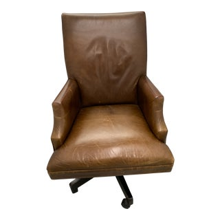 Leather Restoration Hardware 5 Star Office Chair For Sale