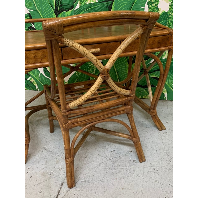 Mid Century Bamboo Desk and Chair For Sale - Image 9 of 13