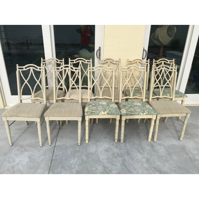 Vintage Thomasville Faux Bamboo Chinoiserie Hollywood Regency Chairs - Set of 10 For Sale - Image 11 of 11