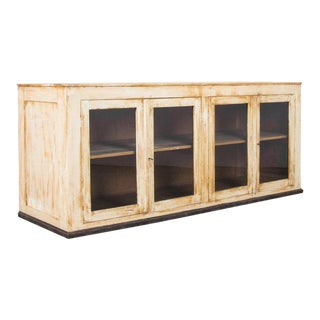 1900s French Painted Store Vitrine For Sale