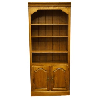 Late 20th Century Vintage Ethan Allen Circa Collection Open Bookcase For Sale