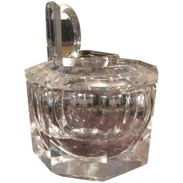 Mid-Century Modern Carole Stupell Style Lucite Ice Bucket For Sale - Image 4 of 5