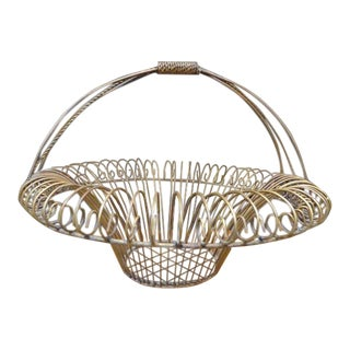 Antique Style Metal Wire Planter Basket For Sale