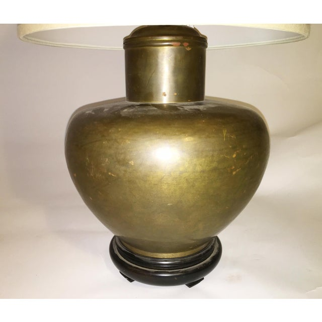 Round Mid-Century Brass Table Lamp - Image 3 of 3