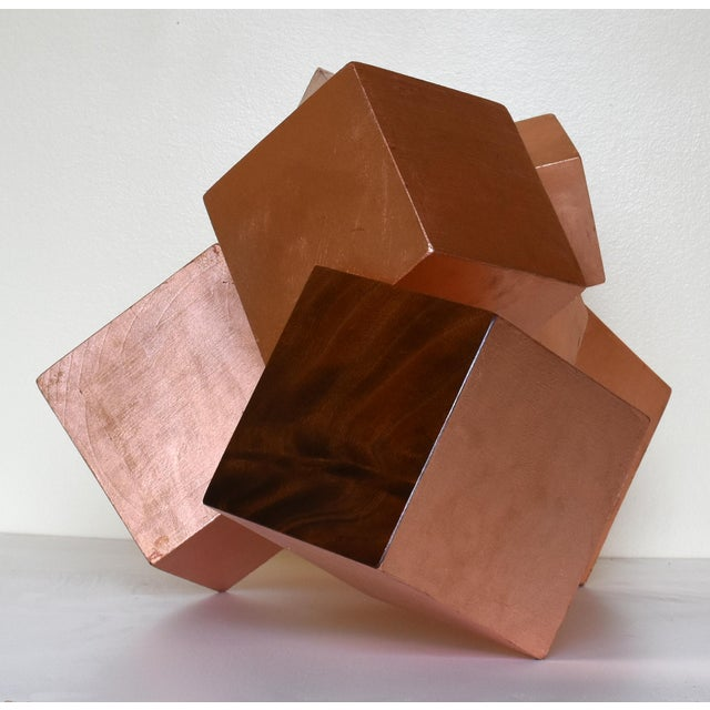 Copper and Mahogany Pyrite Sculpture For Sale - Image 9 of 13