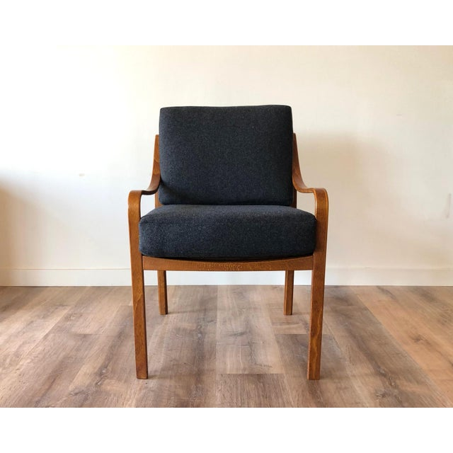 1960s Danish Mid-Century Modern Side Chair by j.m. Birking For Sale - Image 5 of 13