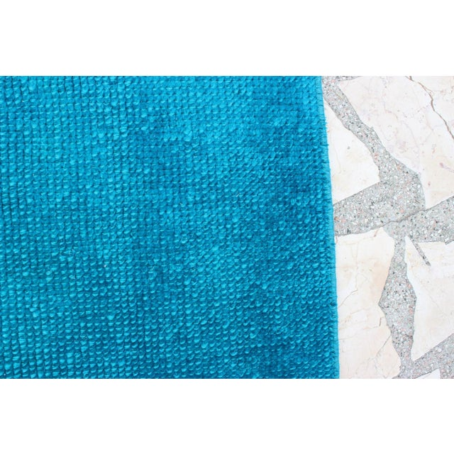 Oushak Over-Dyed Turquoise Runner - 2′10 X 14' - Image 5 of 8