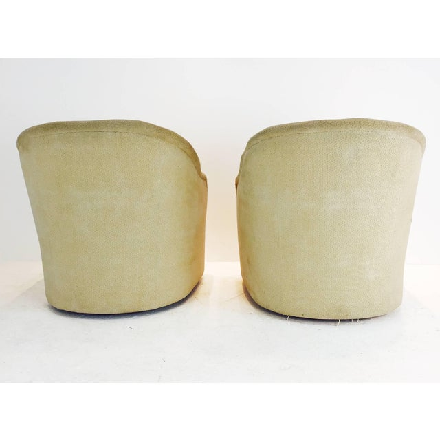 1960s Pair of Ward Bennett Barrel Back Club Chairs For Sale - Image 5 of 6