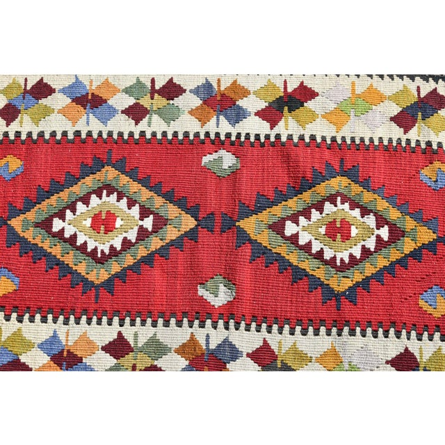 1990s Turkish Tribal Hand-Knotted Kilim Rug - 1′10″ × 3′4″ For Sale - Image 5 of 6