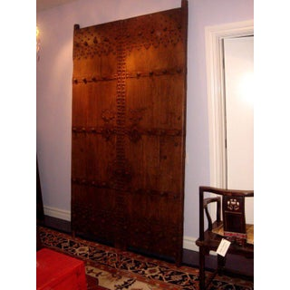 Chinese Elm and Metal Garden Gate Doors - a Pair Preview
