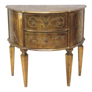 Florentine Style 2-Drawer Demilune Commode For Sale