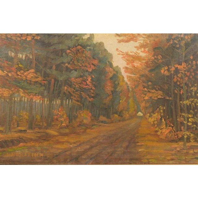 Framed Dutch Impressionist Autumn Landscape For Sale In Atlanta - Image 6 of 6