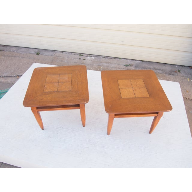 Parquet Lane Side Tables- A Pair - Image 2 of 4