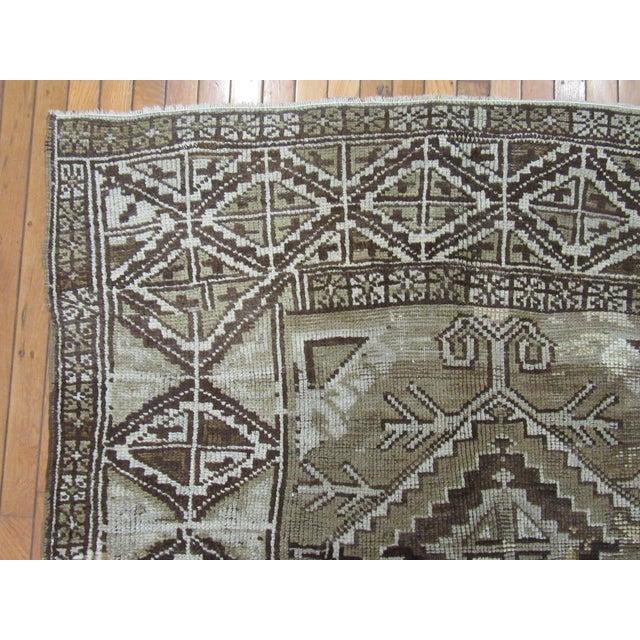 "Textile 1960's Vintage Handmade Wool Turkish Anatolian Area Rug-4'10'x10'3"" For Sale - Image 7 of 10"