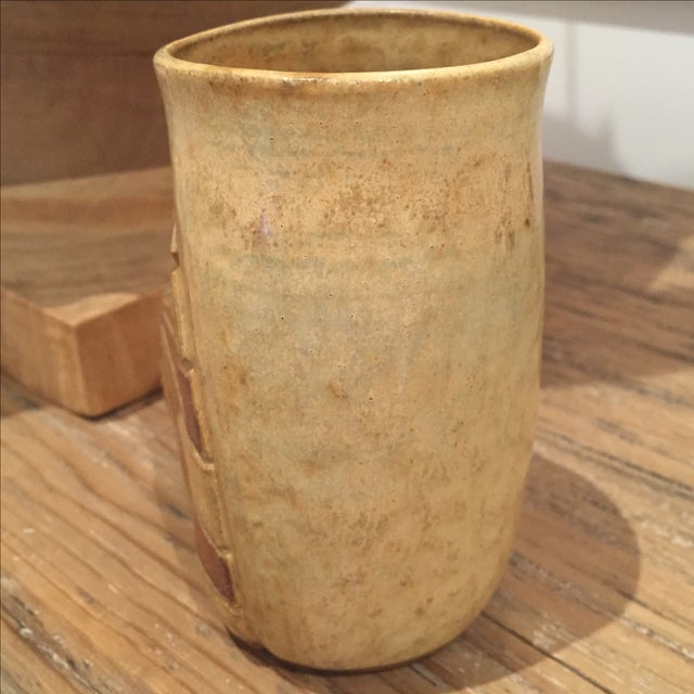 1960s 1960s Vintage Signed Studio Pottery Vase For Sale - Image 5 of 8