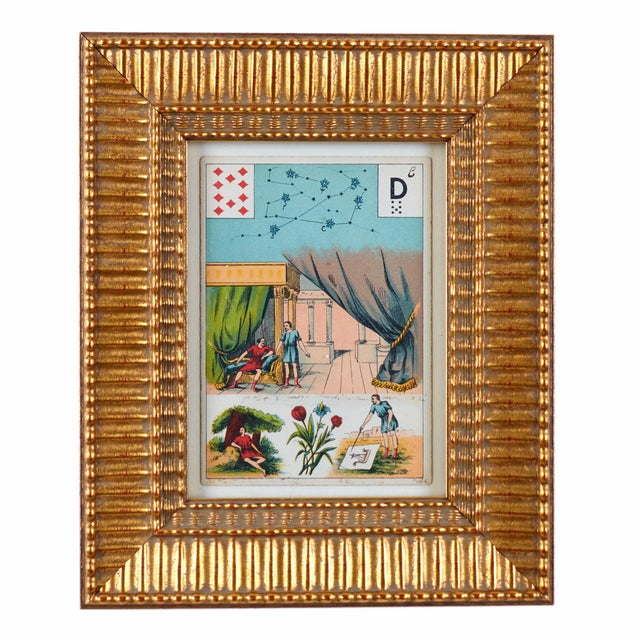 Late 19th Century Antique Grand Jeu Lenormand Tarot Cards - Set of 23 For Sale In Savannah - Image 6 of 11