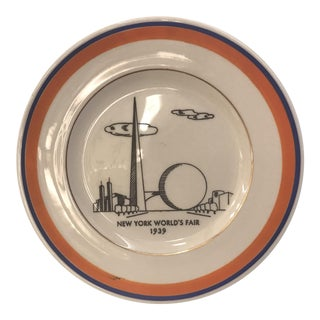 1939 New York World's Fair Plate For Sale