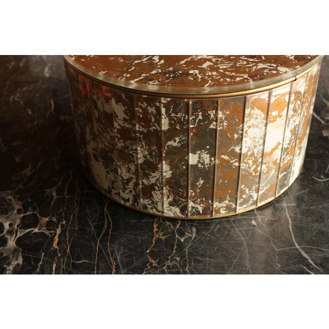 Marbled Golden Swirl Mirrored Box For Sale - Image 9 of 10