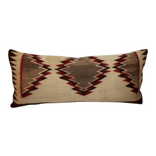 Early Navajo Indian Weaving Eye Dazzler Pillow For Sale