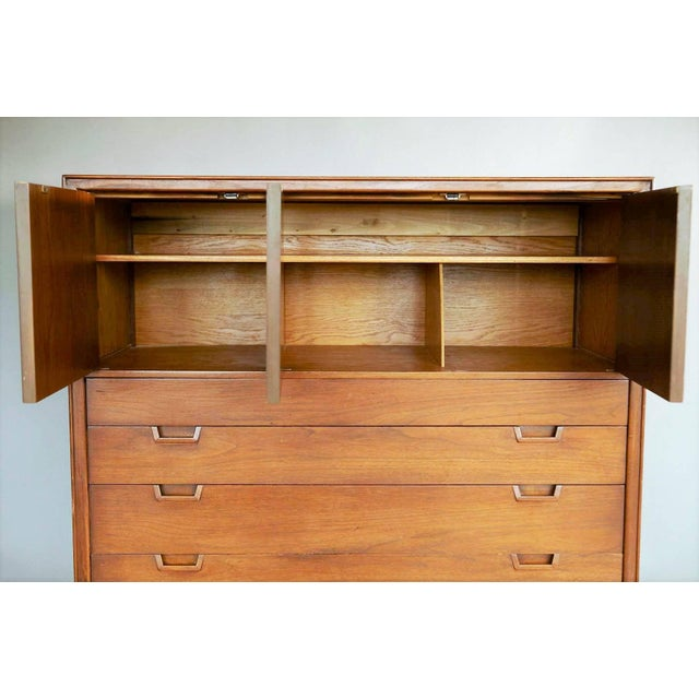 This stylish chest of drawers was designed as part of the Janus Collection by the Mount Airy Furniture Company for John...