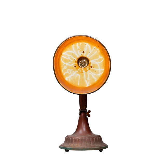 Industrial Antique 1920s Infralite Desk Lamp For Sale - Image 3 of 10