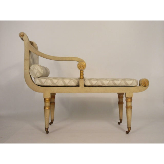 Italian 1960s Vintage Italian Classical Chaise For Sale - Image 3 of 10