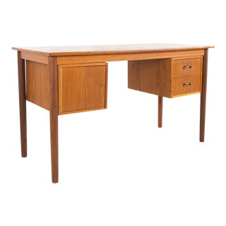 Arne Vodder Style Mid Century Danish Teak 2 Sided Writing Desk