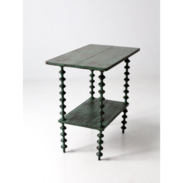 Antique Folk Art Spool Table For Sale - Image 9 of 9