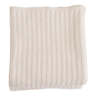 Cableknit Blanket in Natural, King For Sale