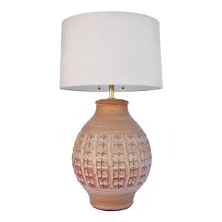 1960s Bob Kinzie Pottery Table Lamp For Sale