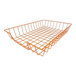 Orange Wire Desk Organizer
