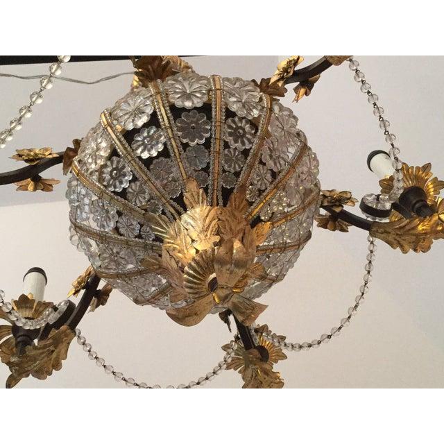 1950s Italian Crystal Flower Chandelier For Image 5 Of 9