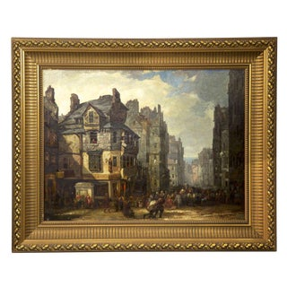 19th Century Antique Scottish Oil Painting, John Knox House For Sale