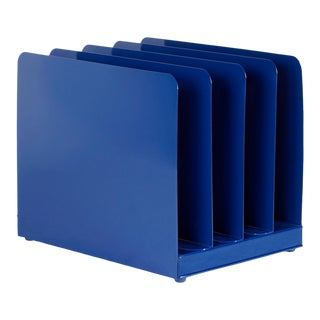 Retro Office Memo/ Mail Organizer Refinished in Midnight Blue For Sale