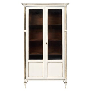 Louis XVI Style Painted Antique Bookcase For Sale