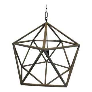 BoBo Intriguing Objects Grey Washed Wooden Polyhedron Pendant