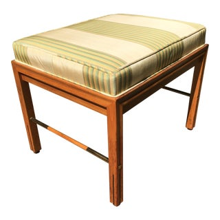 Mid Century Modern Gerry Zanck for Gregori Small Foot Stool For Sale