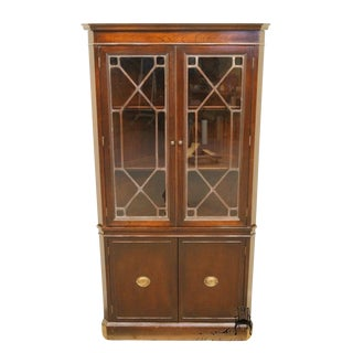 1940s Antique Duncan Phyfe Corner China Cabinet For Sale