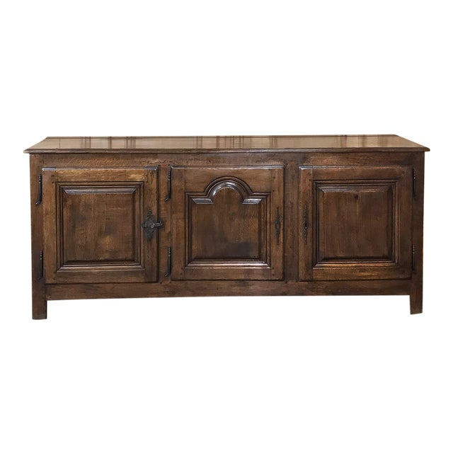 18th Century Country French Provincial Low Buffet For Sale