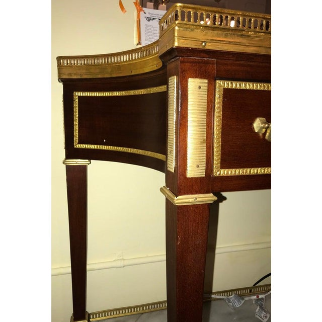 Stone Russian Neoclassical Style Console/Server or Commode With Marble Top For Sale - Image 7 of 13