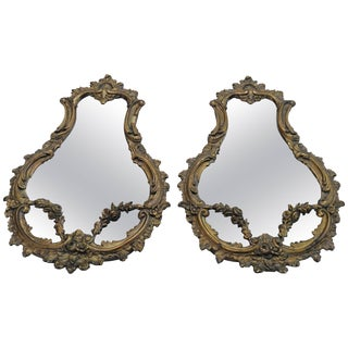 19th Century Pair of French Rococo Mirrors For Sale
