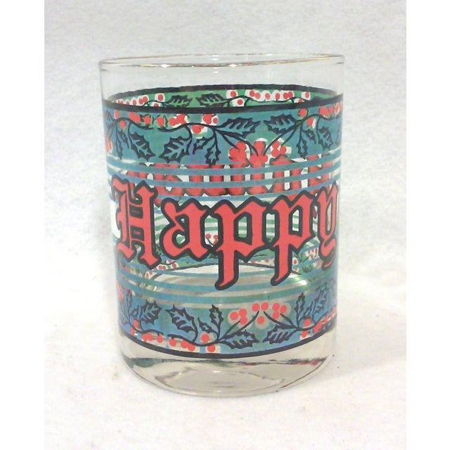 Vintage Happy Holidays Rock Glasses - Set of 12 - Image 3 of 5