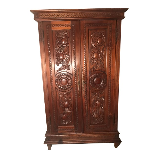 Antique French Country Armoire - Image 1 of 10