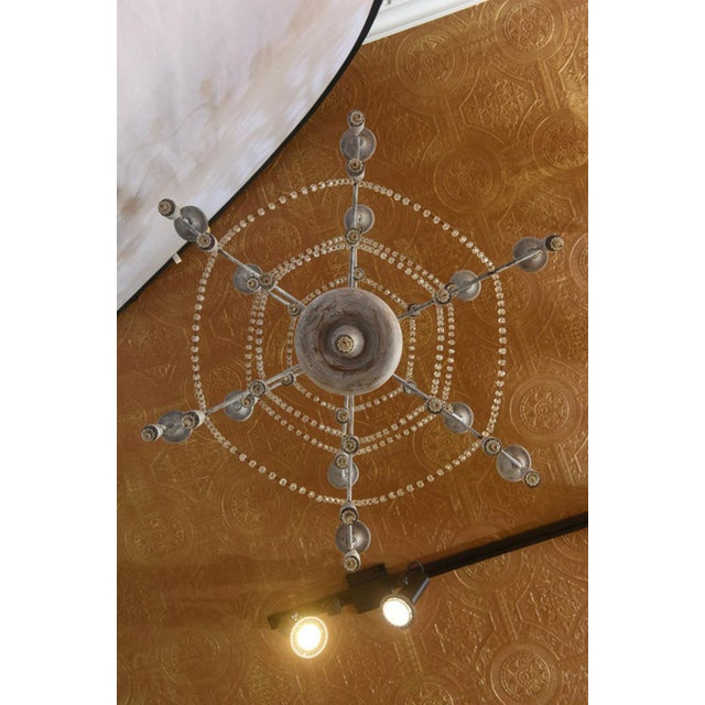 1940s Italian Two-Tier Chandelier Strung with Beads and Tassels For Sale - Image 5 of 8
